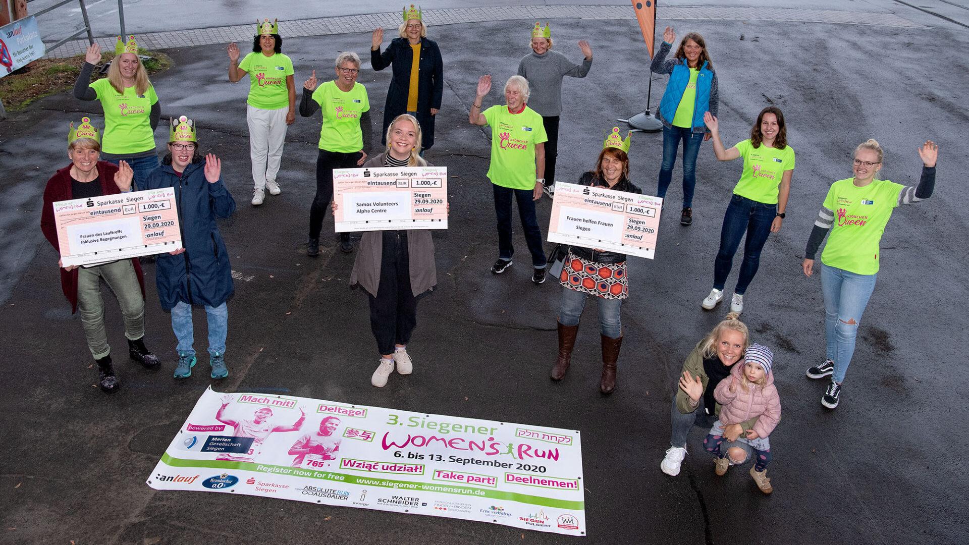 Women's Run mehr als eine Sportveranstaltung – 3.000,-€ Spenden für drei soziale Projekte